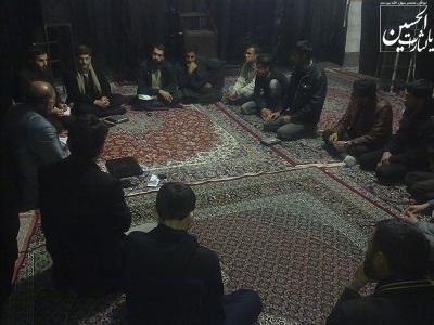 دیدار اعضای بنیاد فرهنگی خاتم الاوصیاء با فعالان هیئت
